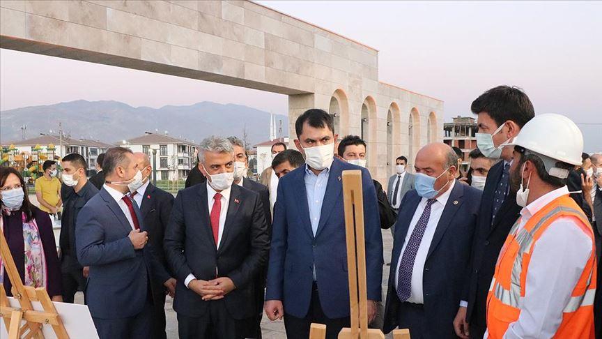Çevre ve Şehircilik Bakanı Kurum, Erzincan'da kentsel dönüşüm alanlarını inceledi
