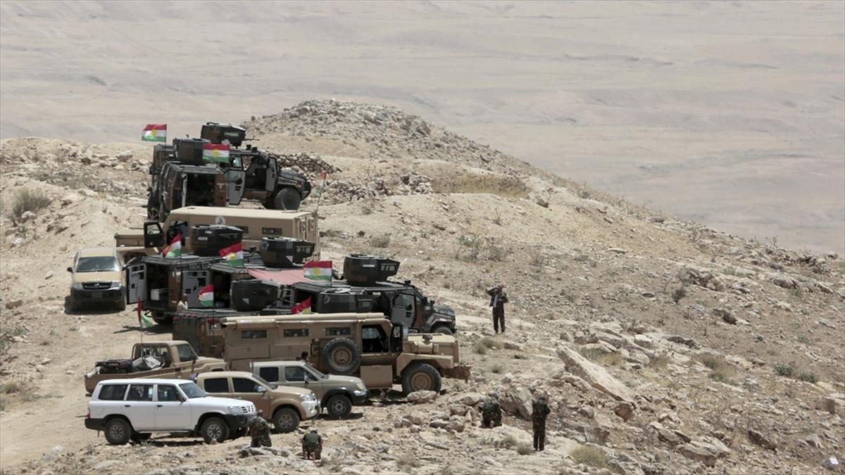 Terör örgütü YPG/PKK Irak'taki Peşmerge güçlerine ağır silahlarla saldırı düzenledi