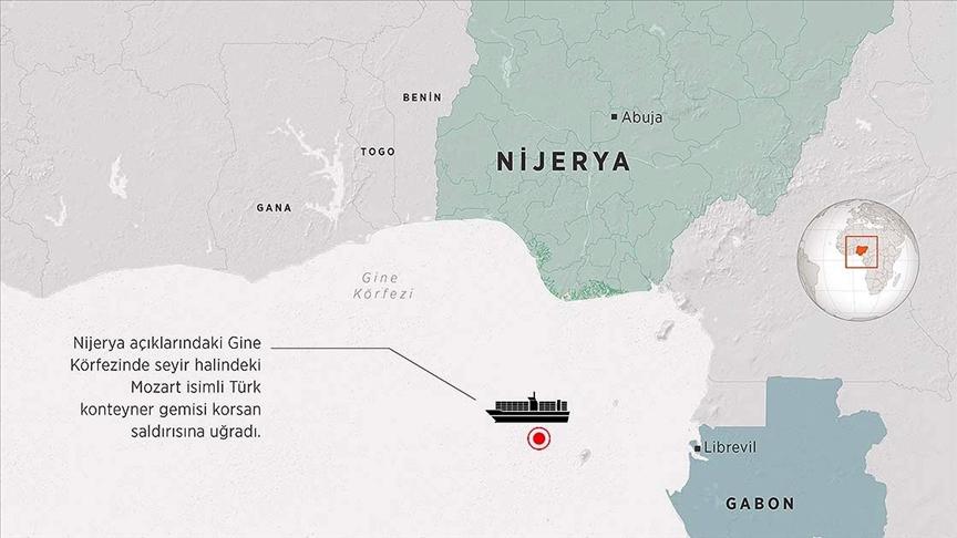 Bakan Karaismailoğlu: Gine Körfezi'nde korsan saldırısına uğrayan gemi saat 11.00'de Gabon'un Gentil Limanı'na demirledi
