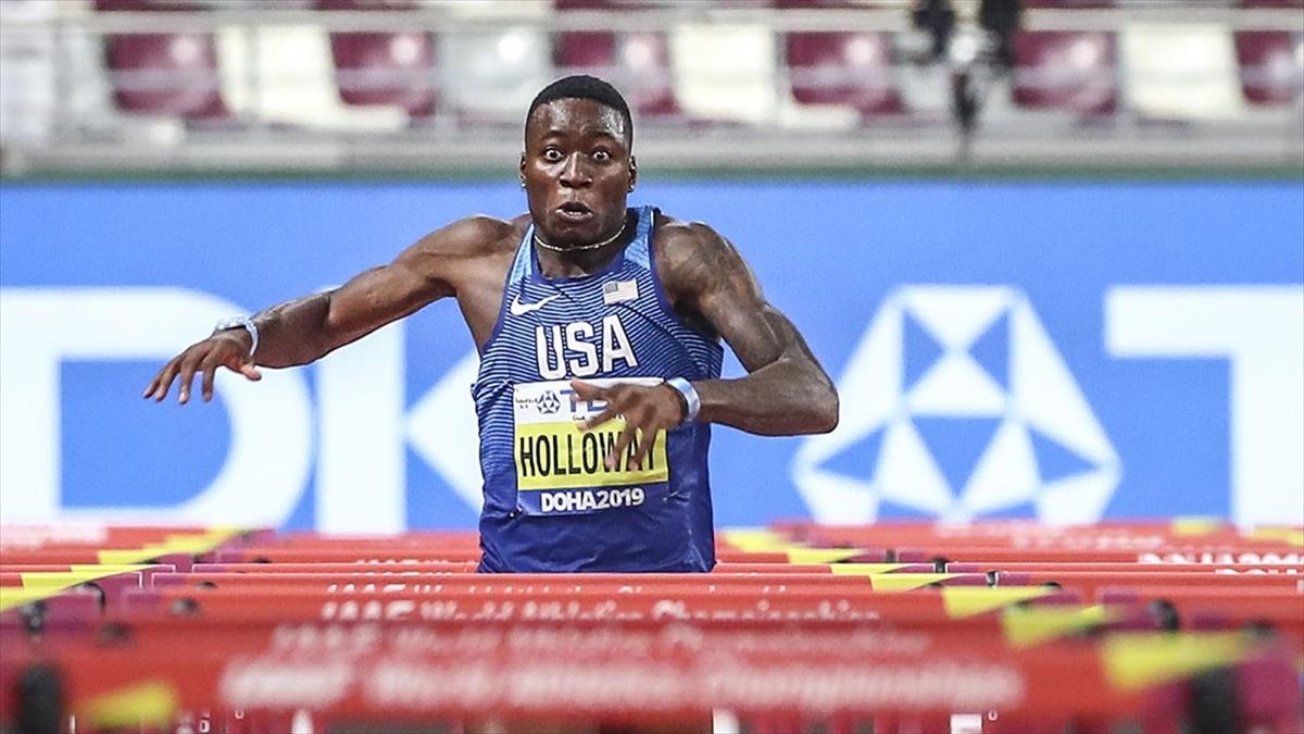 ABD'li Holloway, 60 metre engellide 27 yıllık dünya rekorunu kırdı
