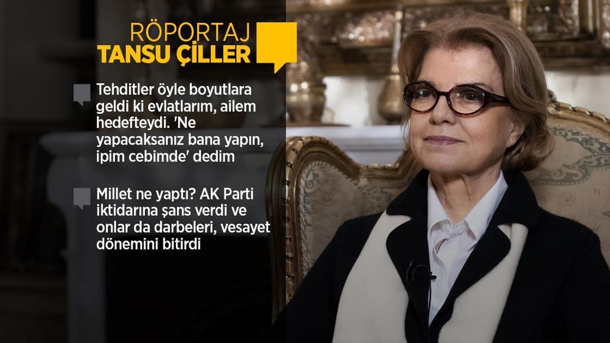 Eski Başbakan Tansu Çiller 28 Şubat sürecini anlattı