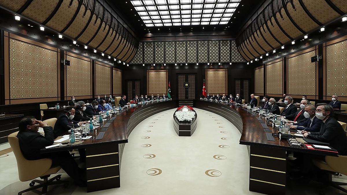 Türkiye-Libya ortak bildirisinde 'Libya'nın toprak bütünlüğünün muhafazası' vurgusu