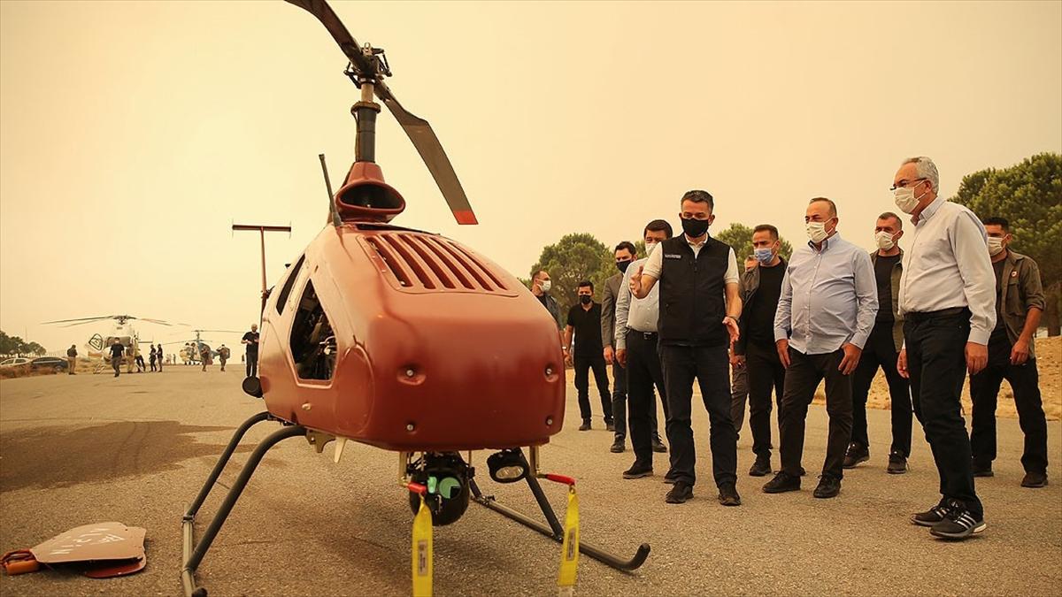 İnsansız helikopter, Manavgat yangınlarıyla mücadelede kullanıldı