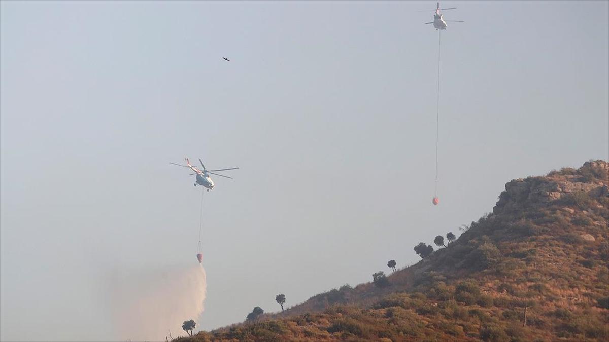 Muğla'da devam eden 6 yangına havadan ve karadan müdahale ediliyor