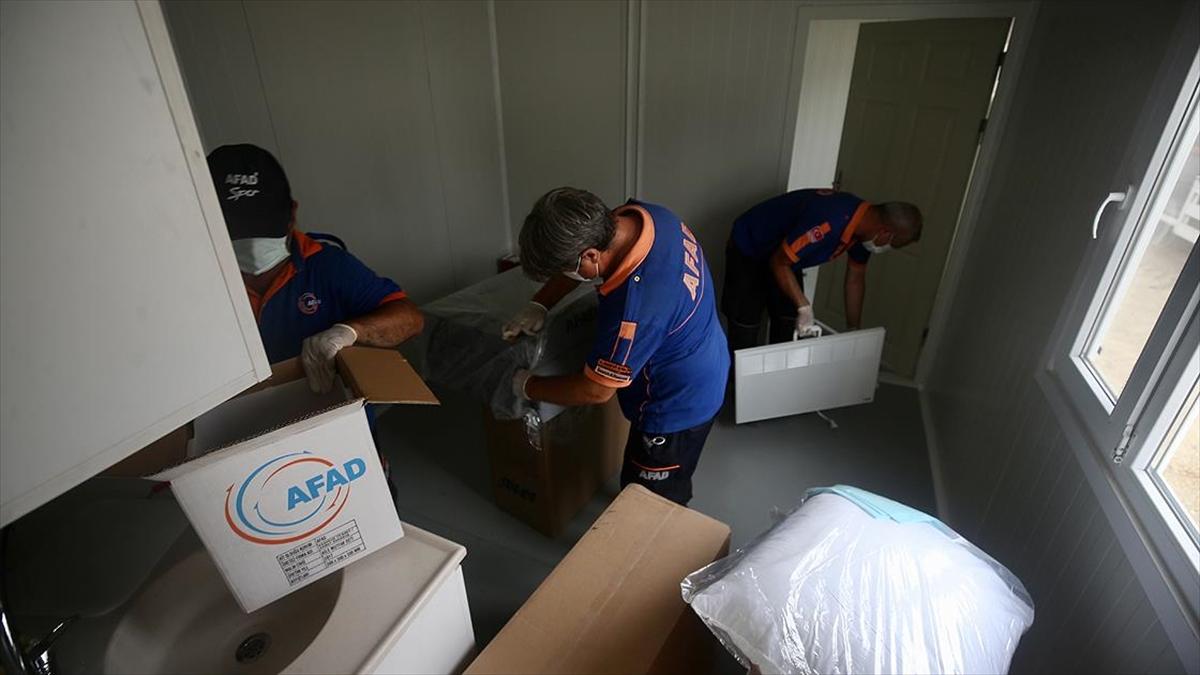 Manavgat'ta afetzedeler için kurulan 177 konteyner teslim edilmeye hazır