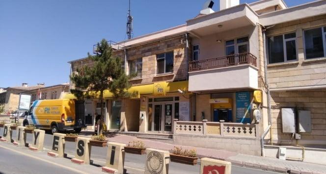 Ürgüp'te PTT şubesi karantinaya alındı