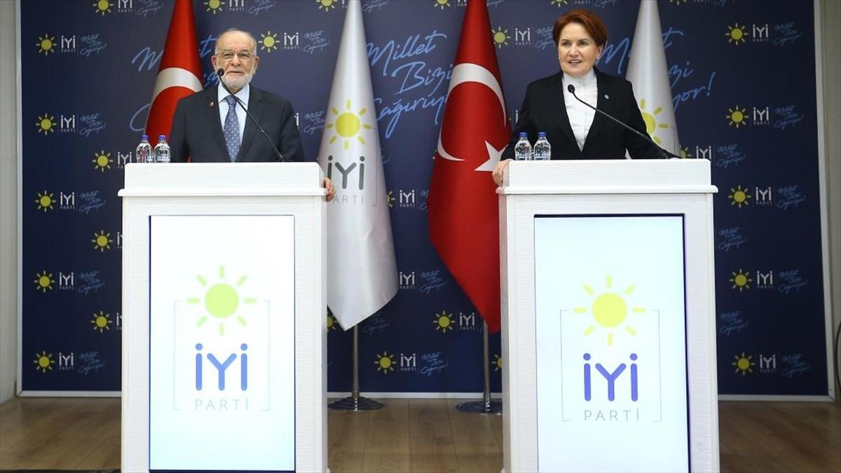 Saadet Partisi Genel Başkanı Karamollaoğlu'ndan Akşener'e ziyaret