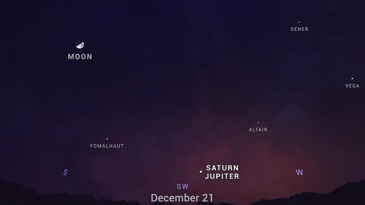 Jüpiter ve Satürn 21 Aralık'ta gökyüzünde 'tek bir yıldız' gibi parlayacak