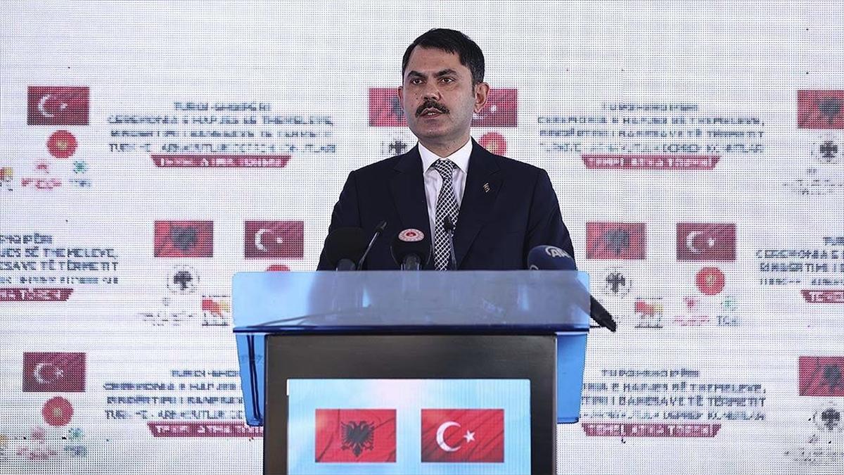 Bakan Kurum: Arnavutluk'ta inşa edilecek konutlar iki ülke arasındaki kardeşlik hukukunu daha da güçlendirecek