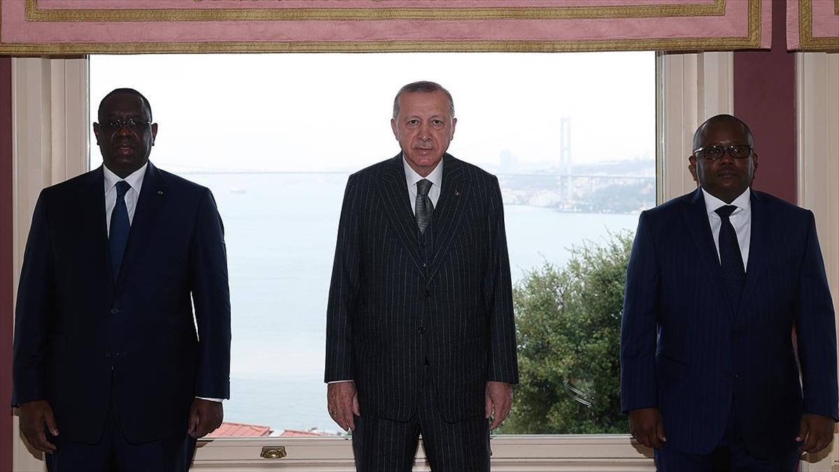 Cumhurbaşkanı Erdoğan, Gine Bissau Cumhurbaşkanı Embalo ve Senegal Cumhurbaşkanı Sall ile görüştü