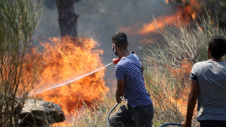 Mersin Silifke'deki orman yangınına müdahaleye vatandaşlar da destek veriyor